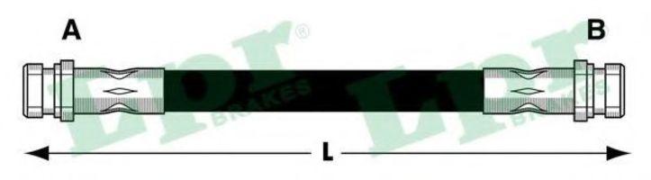 Шланг тормозной LPR 6T47839