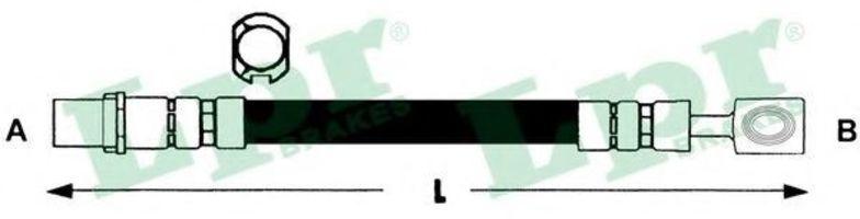 Шланг тормозной LPR 6T46791