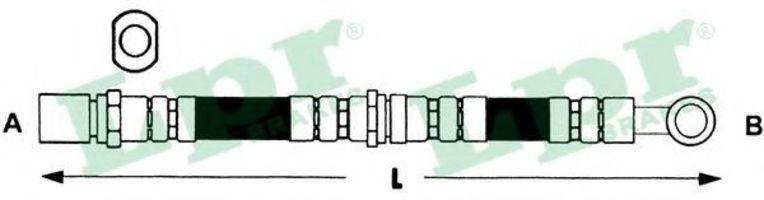 Шланг тормозной LPR 6T48078