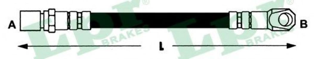 Шланг тормозной LPR 6T47371