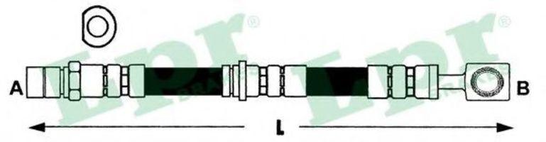 Купить Шланг тормозной LPR 6T47396