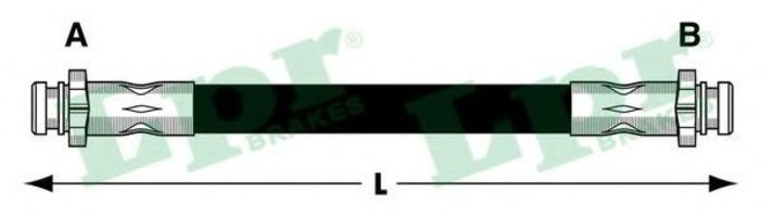 Шланг тормозной LPR 6T46786