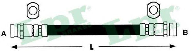 Шланг тормозной LPR 6T48124