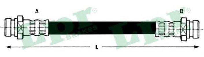 Шланг тормозной LPR 6T47641