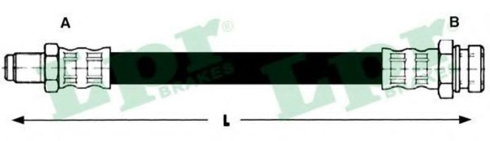 Шланг тормозной LPR 6T47497