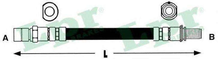Шланг тормозной LPR 6T46187