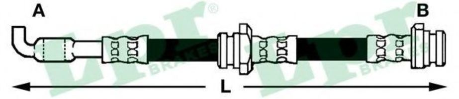 Шланг тормозной LPR 6T46285