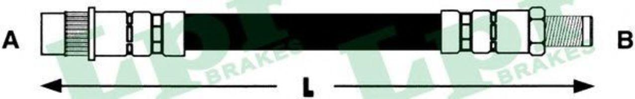 Шланг тормозной LPR 6T46616