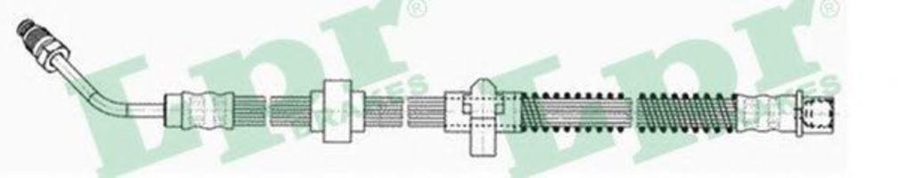 Шланг тормозной LPR 6T47876