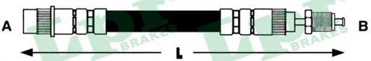 Шланг тормозной LPR 6T46559
