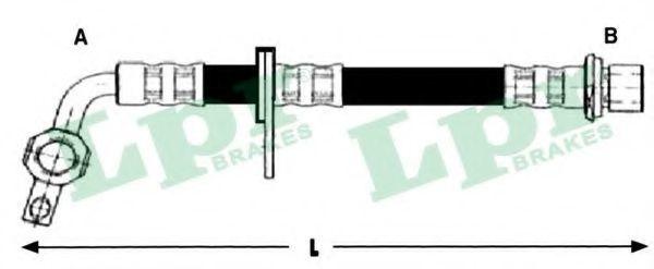 Шланг тормозной LPR 6T48254