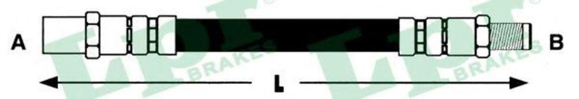 Шланг тормозной LPR 6T46136