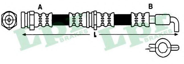 Шланг тормозной LPR 6T46279