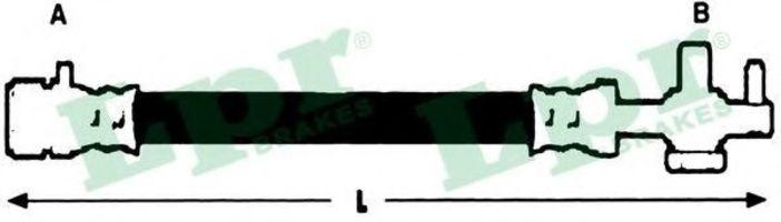 Шланг тормозной LPR 6T46651