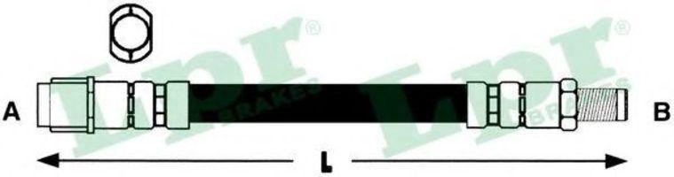 Шланг тормозной LPR 6T46685