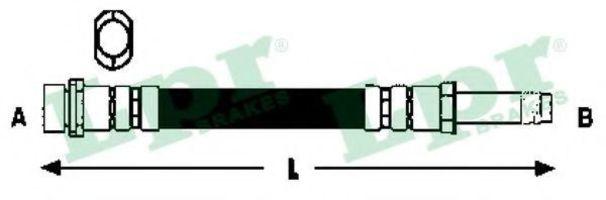 Шланг тормозной LPR 6T47898