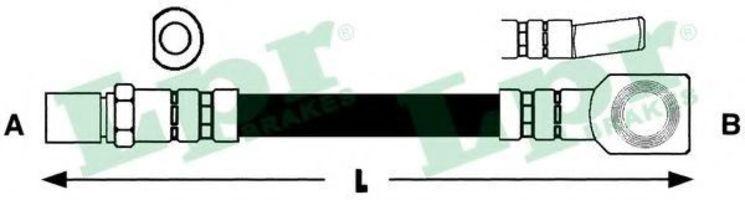 Шланг тормозной LPR 6T46537