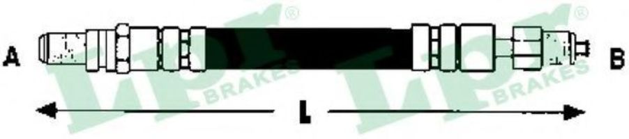 Шланг тормозной LPR 6T47473
