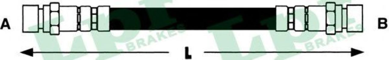 Шланг тормозной LPR 6T47832