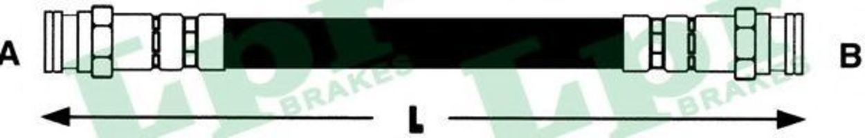 Шланг тормозной LPR 6T46603