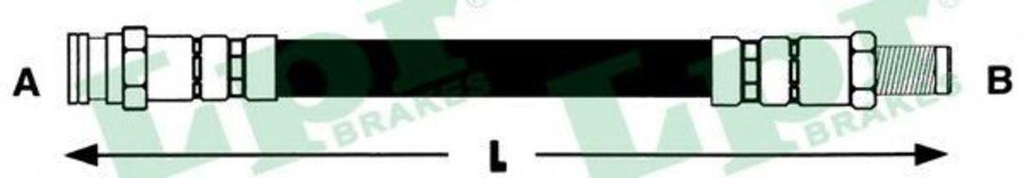 Шланг тормозной LPR 6T46235