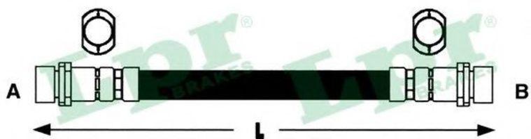 Шланг тормозной LPR 6T47845