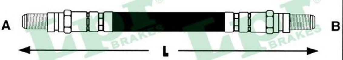 Шланг тормозной LPR 6T46114