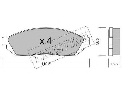 Комплект тормозных колодок, дисковый тормоз TRUSTING 0890