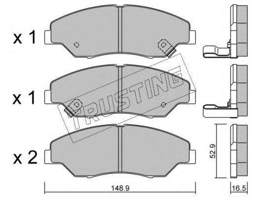 Комплект тормозных колодок, дисковый тормоз TRUSTING 3850