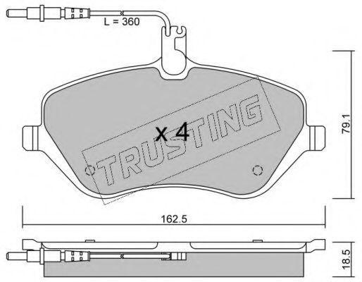 Колодки тормозные TRUSTING 6170