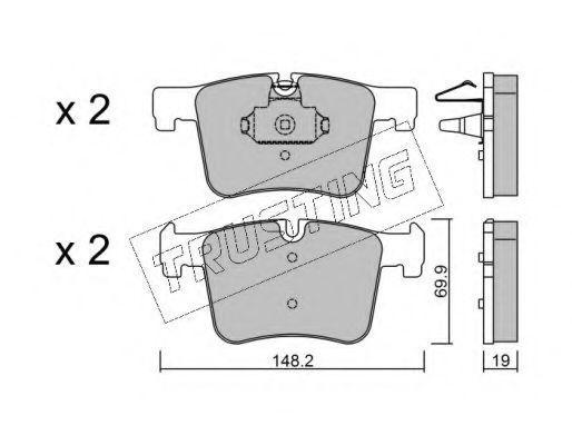 Комплект тормозных колодок, дисковый тормоз TRUSTING 9770