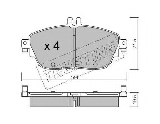 Комплект тормозных колодок, дисковый тормоз TRUSTING 9810