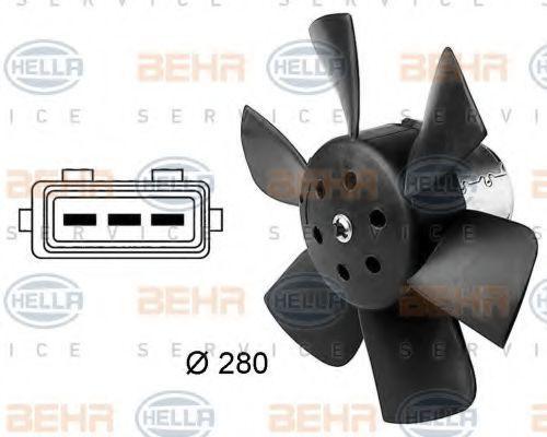 Вентилятор, охлаждение двигателя HELLA 8EW009144381