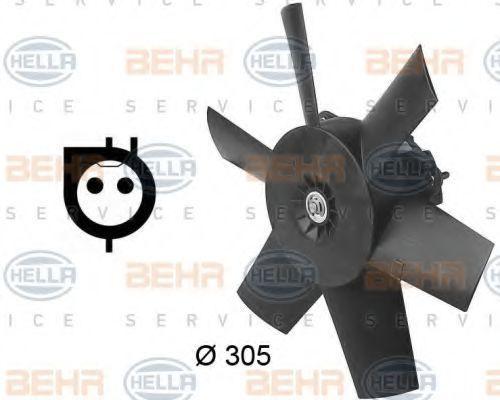 Вентилятор, охлаждение двигателя HELLA 8EW009144641