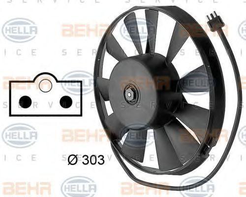 Вентилятор, охлаждение двигателя HELLA 8EW009144701