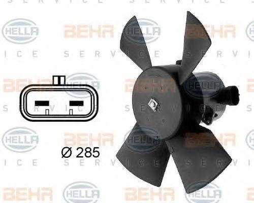 Вентилятор, охлаждение двигателя HELLA 8EW009158701