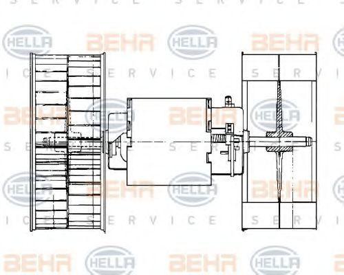 Электродвигатель отопителя HELLA 8EW009159101