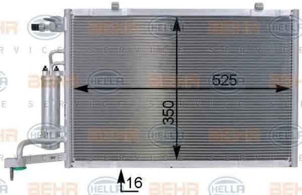 Радиатор кондиционера HELLA 8FC 351 000-401
