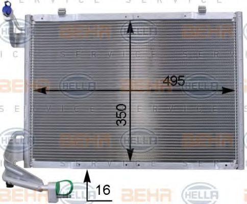Радиатор кондиционера HELLA 8FC 351 000-431