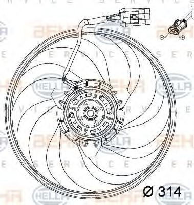Вентилятор радиатора HELLA 8EW351034421