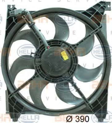 Вентилятор, охлаждение двигателя HELLA 8EW351034471