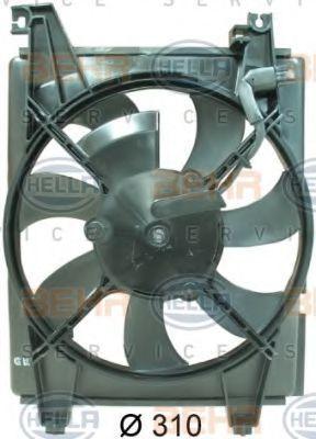 Вентилятор, конденсатор кондиционера HELLA 8EW351034551