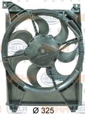 Вентилятор радиатора кондиционера HELLA 8EW351034571