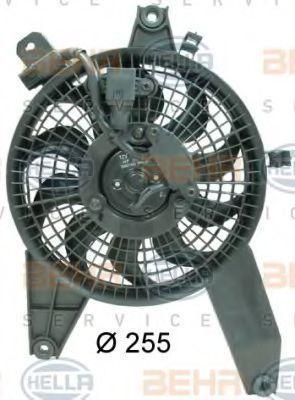 Вентилятор, конденсатор кондиционера HELLA 8EW351034611