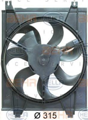 Вентилятор, конденсатор кондиционера HELLA 8EW351034621