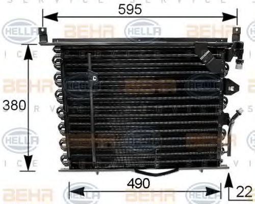 Радиатор кондиционера HELLA 8FC 351 035-161