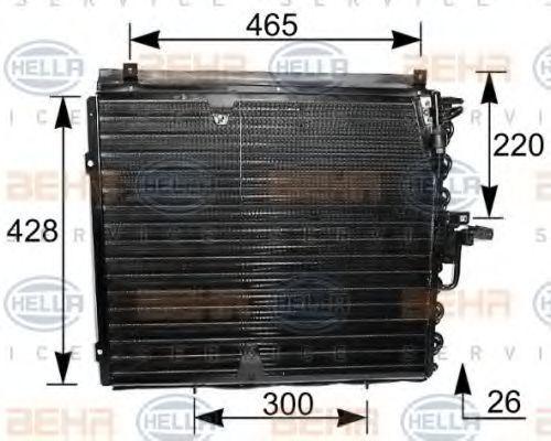 Радиатор кондиционера HELLA 8FC 351 035-181