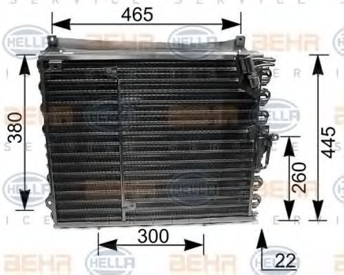 Радиатор кондиционера HELLA 8FC351035191