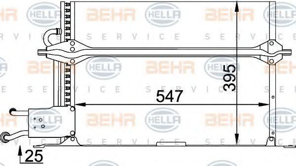 Радиатор кондиционера HELLA 8FC 351 035-291