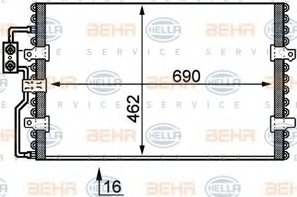 Радиатор кондиционера HELLA 8FC 351 035-421